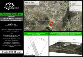 Foto de terreno comercial en venta en altos juriquilla , cumbres del lago, querétaro, querétaro, 14134363 No. 01