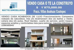 Foto de casa en venta en anahuac , los carriles, coatepec, veracruz de ignacio de la llave, 6570175 No. 01