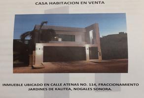 Foto de casa en venta en atenas 114, kalitea, nogales, sonora, 0 No. 01