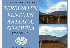 Foto de terreno habitacional en venta en autopista ojo caliente- carbonera a, arteaga centro, arteaga, coahuila de zaragoza, 0 No. 01