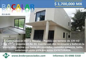 Foto de casa en venta en avenida . 31 , bacalar, bacalar, quintana roo, 0 No. 01