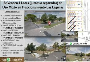 Foto de terreno habitacional en venta en avenida akoliman , las lagunas, villa de álvarez, colima, 0 No. 01