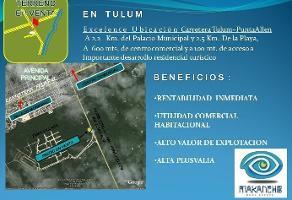 Foto de terreno comercial en venta en avenida coba sur , tulum centro, tulum, quintana roo, 13787150 No. 01