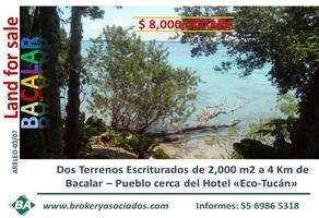 Foto de terreno comercial en venta en avenida costera , san isidro la laguna, bacalar, quintana roo, 0 No. 01