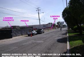 Foto de terreno comercial en venta en avenida del sol 1, plazas del sol 1a sección, querétaro, querétaro, 15997724 No. 01