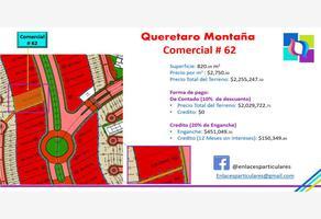Foto de terreno comercial en venta en avenida principal 62, industrial la montaña, querétaro, querétaro, 13697982 No. 01