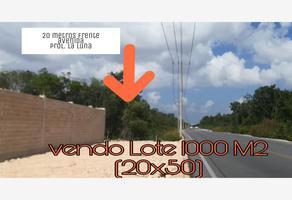 Foto de terreno habitacional en venta en avenida prolongacion la luna 8, álamos i, benito juárez, quintana roo, 0 No. 01