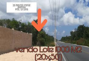 Foto de terreno habitacional en venta en avenida prolongación la luna , colegios, benito juárez, quintana roo, 0 No. 01
