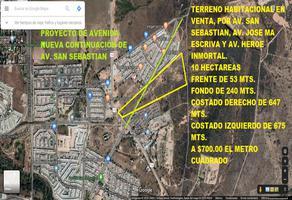 Foto de terreno comercial en venta en avenida san sebastian 0, san sebastián, aguascalientes, aguascalientes, 0 No. 01