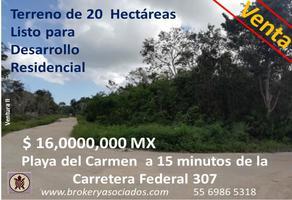 Foto de terreno comercial en venta en avenida universidades , misión las flores, solidaridad, quintana roo, 17672058 No. 01