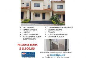 Foto de casa en renta en Arcos de la Cruz, Tlajomulco de Zúñiga, Jalisco, 17187307,  no 01