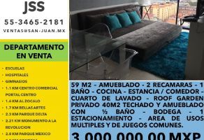 Foto de departamento en venta en Obrera, Cuauhtémoc, DF / CDMX, 21700825,  no 01