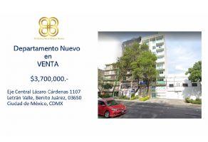 Foto de departamento en venta en Letrán Valle, Benito Juárez, DF / CDMX, 20433187,  no 01