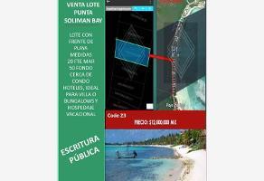 Foto de terreno comercial en venta en bahía solimán , tulum centro, tulum, quintana roo, 12519346 No. 01