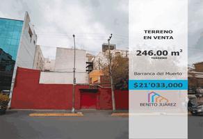 Foto de terreno comercial en venta en barranca del muerto 405, merced gómez, benito juárez, df / cdmx, 0 No. 01