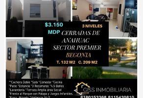 Foto de casa en venta en begonia 1012, cerradas de anáhuac sector premier, general escobedo, nuevo león, 11188169 No. 01