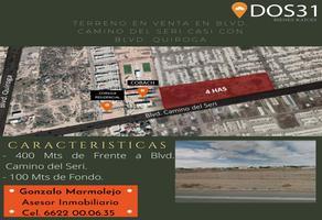 Foto de terreno comercial en venta en boulevard camino del seri , villa bonita, hermosillo, sonora, 15946731 No. 01
