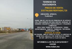 Foto de terreno comercial en renta en boulevard la libertad esquina lardizabal sur , la noria, yauhquemehcan, tlaxcala, 19171432 No. 01