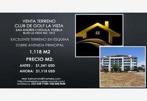 Foto de terreno habitacional en venta en boulevard la vista 1012, la vista contry club, san andrés cholula, puebla, 16591900 No. 01