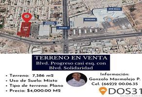 Foto de terreno comercial en venta en boulevard progreso , el encanto, hermosillo, sonora, 0 No. 01