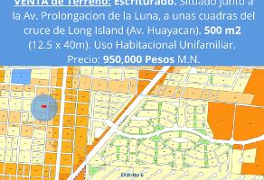 Foto de terreno habitacional en venta en c/ venus, , cancún centro, benito juárez, quintana roo, 0 No. 01