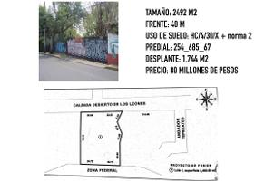 Foto de terreno habitacional en venta en calzada desierto de los leones , tetelpan, álvaro obregón, df / cdmx, 14179635 No. 01