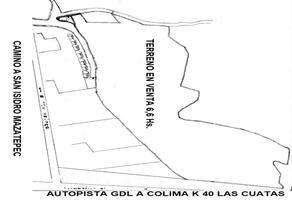 Foto de terreno habitacional en venta en camino a lomas de santa anita , santa cruz de las flores, tlajomulco de zúñiga, jalisco, 0 No. 01