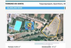 Foto de terreno comercial en venta en camino al balneario la vega por fray junipero serra , la magdalena, tequisquiapan, querétaro, 21069247 No. 01