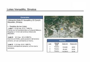 Foto de terreno habitacional en venta en camino al chilillo , el venadillo, mazatlán, sinaloa, 17958451 No. 01