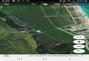 Foto de terreno habitacional en venta en camino costero al norte de punta sam kilometro 10 1, punta sam, benito juárez, quintana roo, 0 No. 01