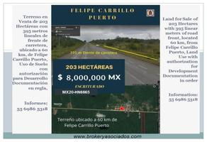 Foto de terreno comercial en venta en carretera 307 kilometro 85, felipe carrillo puerto centro, felipe carrillo puerto, quintana roo, 11195125 No. 01