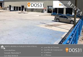 Foto de bodega en renta en carretera a sahuaripa kilometro 3.2 e , parque industrial, hermosillo, sonora, 16827271 No. 01