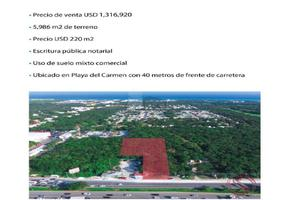 Foto de terreno industrial en venta en carretera cancun tulum , balamtun, solidaridad, quintana roo, 9555228 No. 01