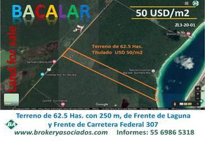 Foto de terreno comercial en venta en carretera federal 307 , la laguna, bacalar, quintana roo, 19759306 No. 01