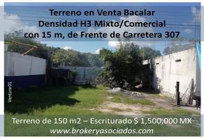 Foto de terreno comercial en venta en carretera federal 307 , luis donaldo colosio, bacalar, quintana roo, 17543307 No. 01