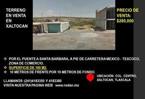 Foto de terreno comercial en venta en carretera mexico -texcoco kilometro 136, san martin xaltocan, xaltocan, tlaxcala, 0 No. 01