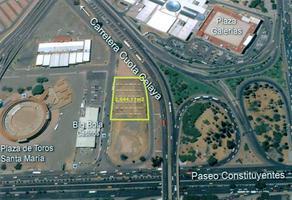 Foto de terreno habitacional en venta en cerca paseo constituyentes , el jacal, querétaro, querétaro, 18395391 No. 01
