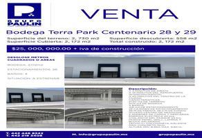 Foto de nave industrial en venta en  , cerro prieto, el marqués, querétaro, 0 No. 01