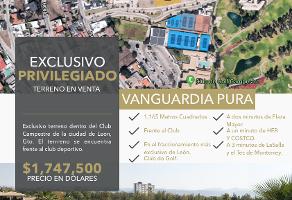 Foto de terreno habitacional en venta en  , club campestre, león, guanajuato, 14358388 No. 01