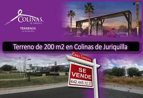 Foto de terreno habitacional en venta en colinas de juriquilla , hacienda juriquilla santa fe, querétaro, querétaro, 17783997 No. 01