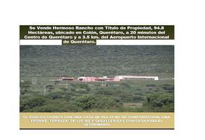 Foto de rancho en venta en  , colón centro, colón, querétaro, 0 No. 01