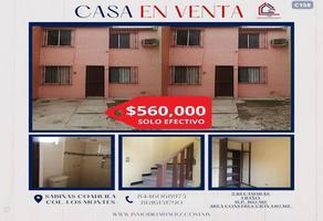 Foto de casa en venta en colonia los montes, sabinas, coahuila, 26729 , los montes, sabinas, coahuila de zaragoza, 0 No. 01
