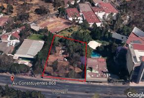 Foto de terreno habitacional en venta en constituyentes , bosque de chapultepec iii sección, miguel hidalgo, df / cdmx, 0 No. 01