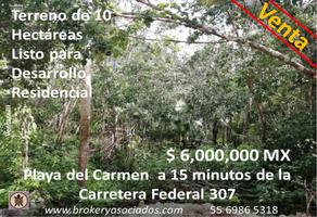 Foto de terreno comercial en venta en continuación calle juárez poniente , misión las flores, solidaridad, quintana roo, 18001194 No. 01