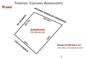 Foto de terreno habitacional en venta en  , cozumel centro, cozumel, quintana roo, 14178266 No. 01