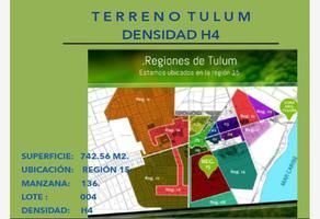 Foto de terreno comercial en venta en donacion 004, region 15 kukulcan, tulum, quintana roo, 0 No. 01