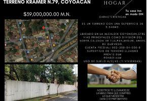 Foto de terreno habitacional en venta en Atlántida, Coyoacán, DF / CDMX, 20893026,  no 01