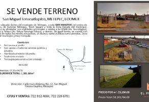 Foto de terreno habitacional en venta en La Asunción, Metepec, México, 13748112,  no 01