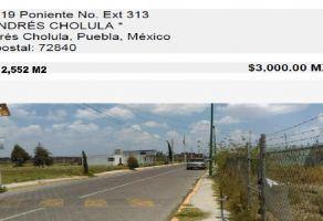 Foto de terreno habitacional en venta en De San Andrés, San Andrés Cholula, Puebla, 20381349,  no 01