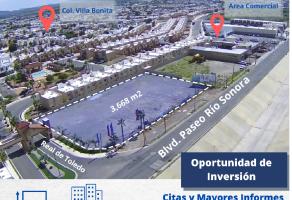 Foto de terreno comercial en venta en Villa Bonita, Hermosillo, Sonora, 21642478,  no 01